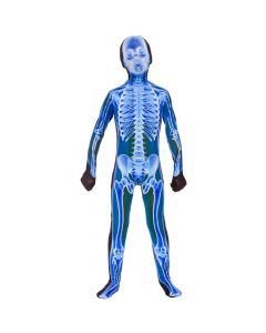 Wicked Costumes Boys Blue X-Ray Skinz