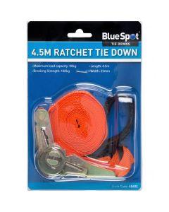 BlueSpot Ratchet Tie Down 25mm x 4.5m