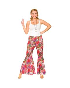 Wicked Costumes Flower Power Hippie Pants