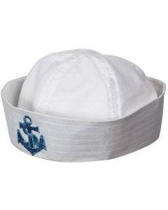 Wicked Costumes Sailor Doughboy Hat With Sequin Anchor