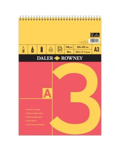 Daler Rowney Red And Yellow Spiral Cartridge Pad A3 150gsm