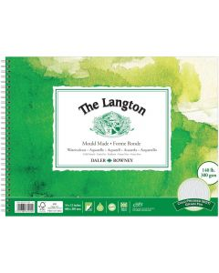 """Daler Rowney The Langton Watercolour Cold Pressed Spiral Pad 16x12"""" 300gsm"""