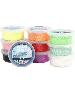 Creative Company Foam Clay 10pk 35g Glitter