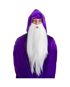 Wicked Costumes White Deluxe Long Beard