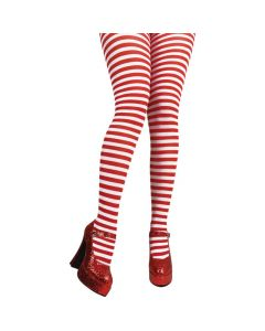 Wicked Costumes Red & White Candystripe Tights