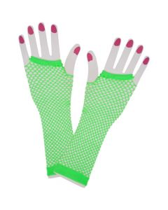 Wicked Costumes Neon Green 80's Net Gloves Long