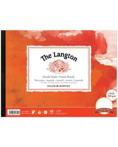 """Daler Rowney The Langton Watercolour Hot Pressed Pad 12x9"""" 300gsm"""