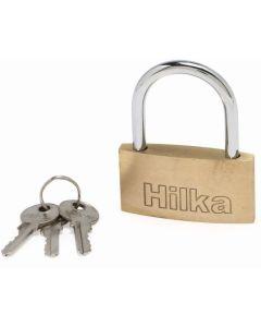 Hilka Slim Brass Padlock 50mm
