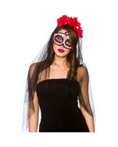 Wicked Costumes Day Of The Dead Deluxe Mask & Veil