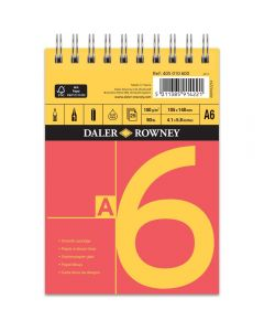 Daler Rowney Red And Yellow Spiral Cartridge Pad A6 150gsm