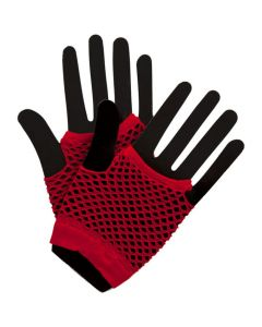 Wicked Costumes Red 80's Net Gloves Short