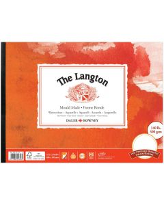 """Daler Rowney The Langton Watercolour Hot Pressed Pad 16x12"""" 300gsm"""