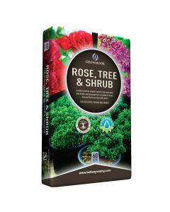 Growmoor Rose, Tree & Shrub Compost 60L