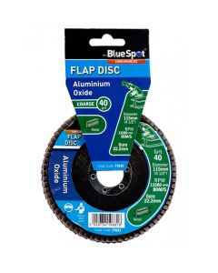 Bluespot Aluminium Oxide Flap Disc 115mm 40 Grit