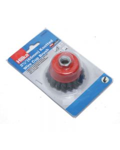 """Hilka M14 Knotted Wire Cup Brush 2½"""""""