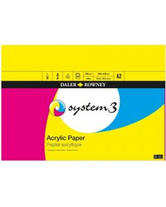 Daler Rowney System 3 Acrylic Pad A2 230gsm