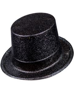 Wicked Costumes Black Glitter Top Hat
