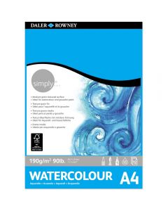 Daler Rowney Simply Watercolour Pad A4 190gsm