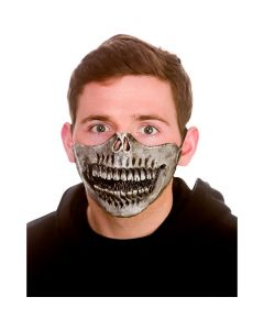 Wicked Costumes Skeleton Half Face Latex Mask