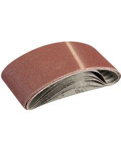 Silverline Sanding Belts 80 Grit 610x100mm 5pk