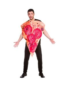 Wicked Costumes Unisex Funny Pepperoni Pizza Slice One Size