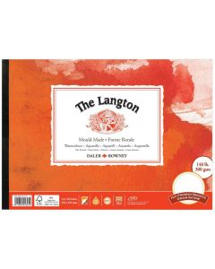 """Daler Rowney The Langton Watercolour Hot Pressed Pad 14x10"""" 300gsm"""