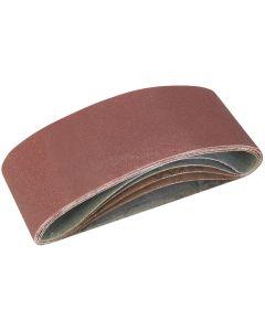 Silverline Sanding Belts Assorted Grit 457x75mm 5pk