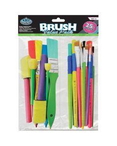 Royal & Langnickel Art & Craft's Brushes Value Pack 25pk