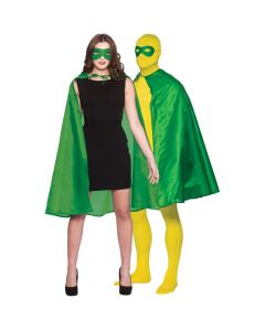 Wicked Costumes Green Super Hero Cape & Mask