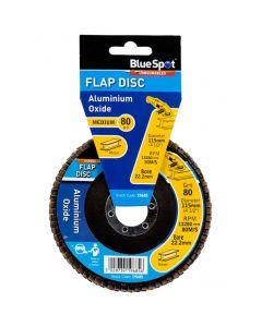 Bluespot Aluminium Oxide Flap Disc 115mm 80 Grit