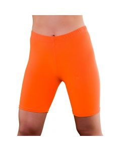 Wicked Costumes 80's Neon Orange Cycling Shorts
