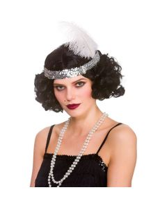 Wicked Costumes Black Curly Flapper Wig