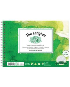 """Daler Rowney The Langton Watercolour Cold Pressed Spiral Pad 10x7"""" 300gsm"""