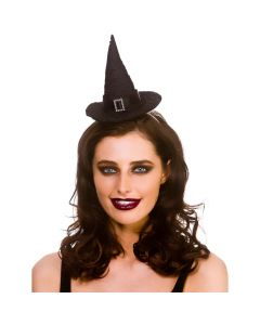 Wicked Costumes Deluxe Satin Witches Hat On Headband