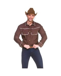 Wicked Costumes Brown Western Cowboy Shirt