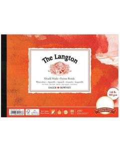 """Daler Rowney The Langton Watercolour Hot Pressed Pad 10x7"""" 300gsm"""