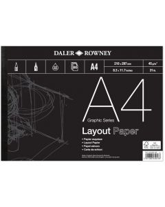 Daler Rowney Graphic Series Layout Pad A4 45gsm