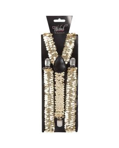 Wicked Costumes Gold Glitter Braces