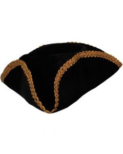 Wicked Costumes Black With Gold Trim Pirate Hat