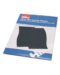 Hilka Assorted Wet And Dry Sheets 10 Piece