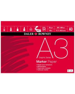 Daler Rowney Graphic Series Marker Pad A3 70gsm