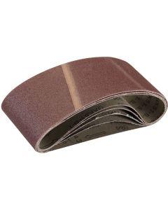 Silverline Sanding Belts 80 Grit 457x75mm 5pk