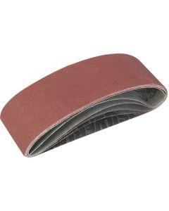 Silverline Sanding Belts Assorted Grit 533x75mm 5pk