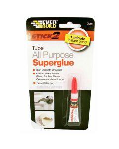 Everbuild All Purpose Superglue Tube 3g