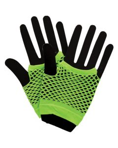 Wicked Costumes Neon Green 80's Net Gloves Short