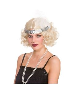 Wicked Costumes Blonde Curly Flapper Wig