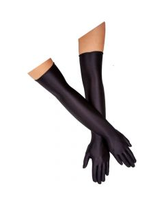 Wicked Costumes Ladies Black Over Elbow Gloves