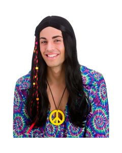 Wicked Costumes Black Cool Hippie Wig