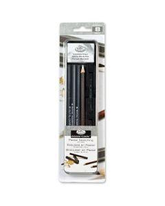 Royal & Langnickel Essentials Charcol & Pastel Mini Tin Art Set