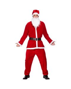 Wicked Costumes Male Deluxe Velour 5 Piece Santa Suit